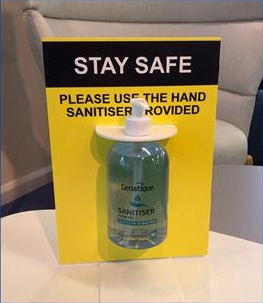 Desk Mounted Hand Sanitiser